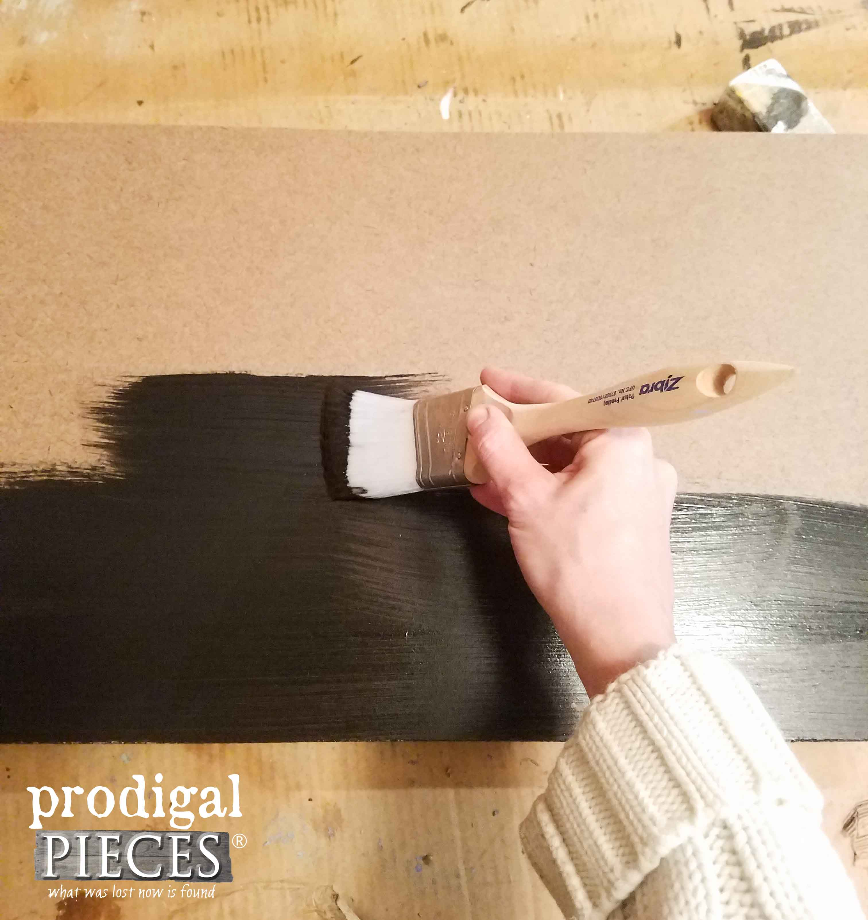 Painting Hardboard to Make DIY Chalkboard | Prodigal Pieces | prodigalpieces.com