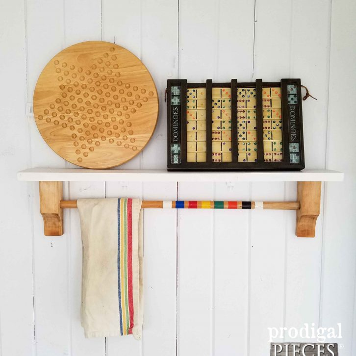 Repurposed Croquet Mallet & Headboard Shelf by Prodigal Pieces | prodigalpieces.com