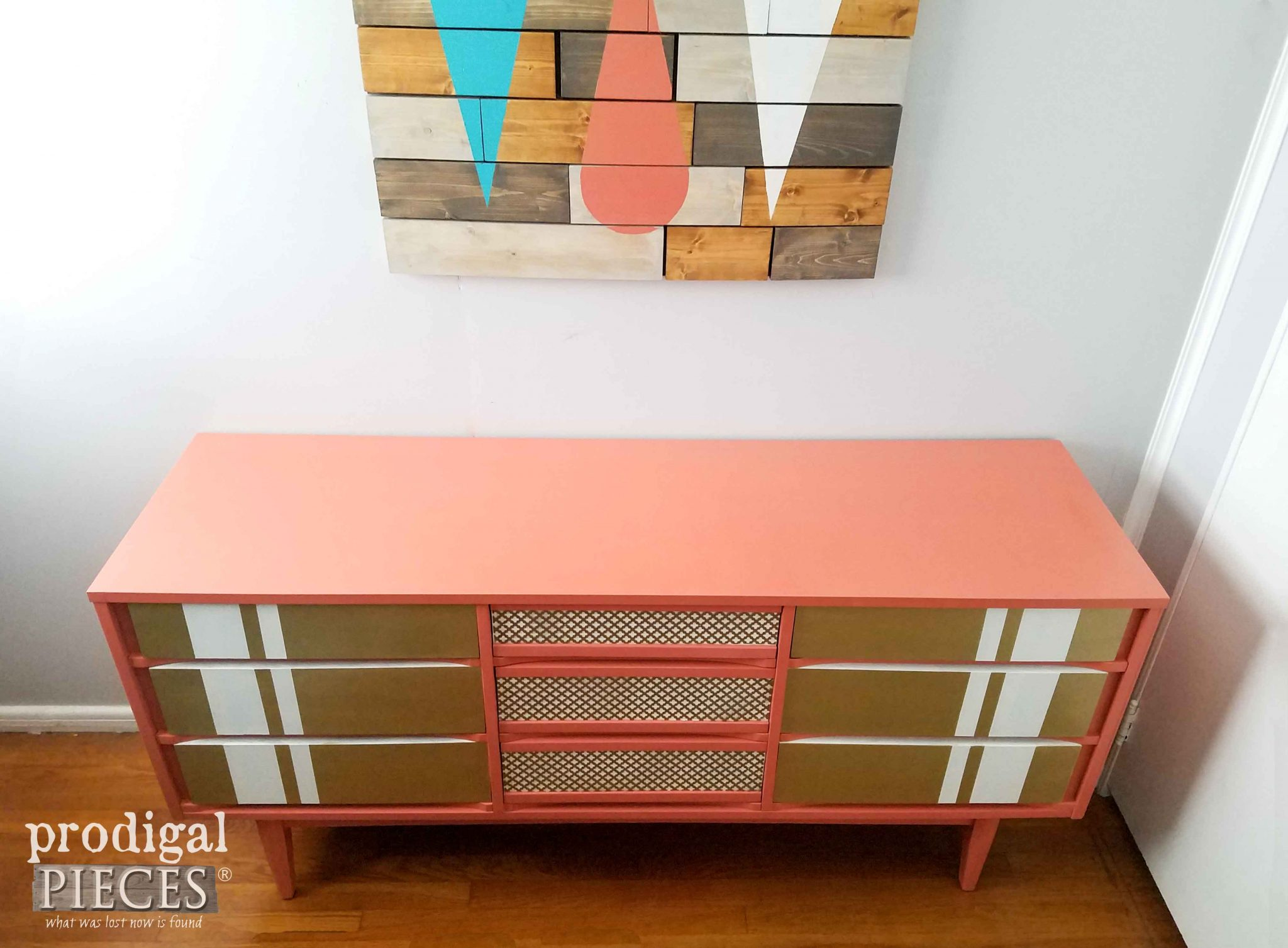 Top View of Modern Chic Mid Century Dresser | Prodigal Pieces | prodigalpieces.com
