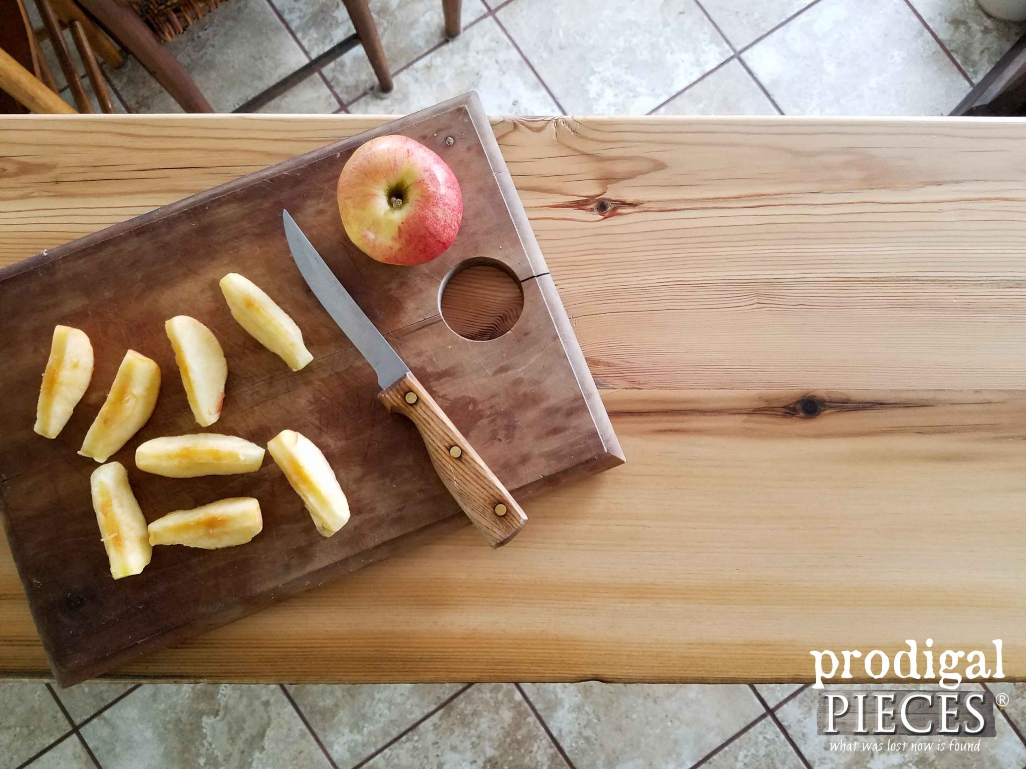 Reclaimed Wood Kitchen Cart Top by Prodigal Pieces | prodigalpieces.com