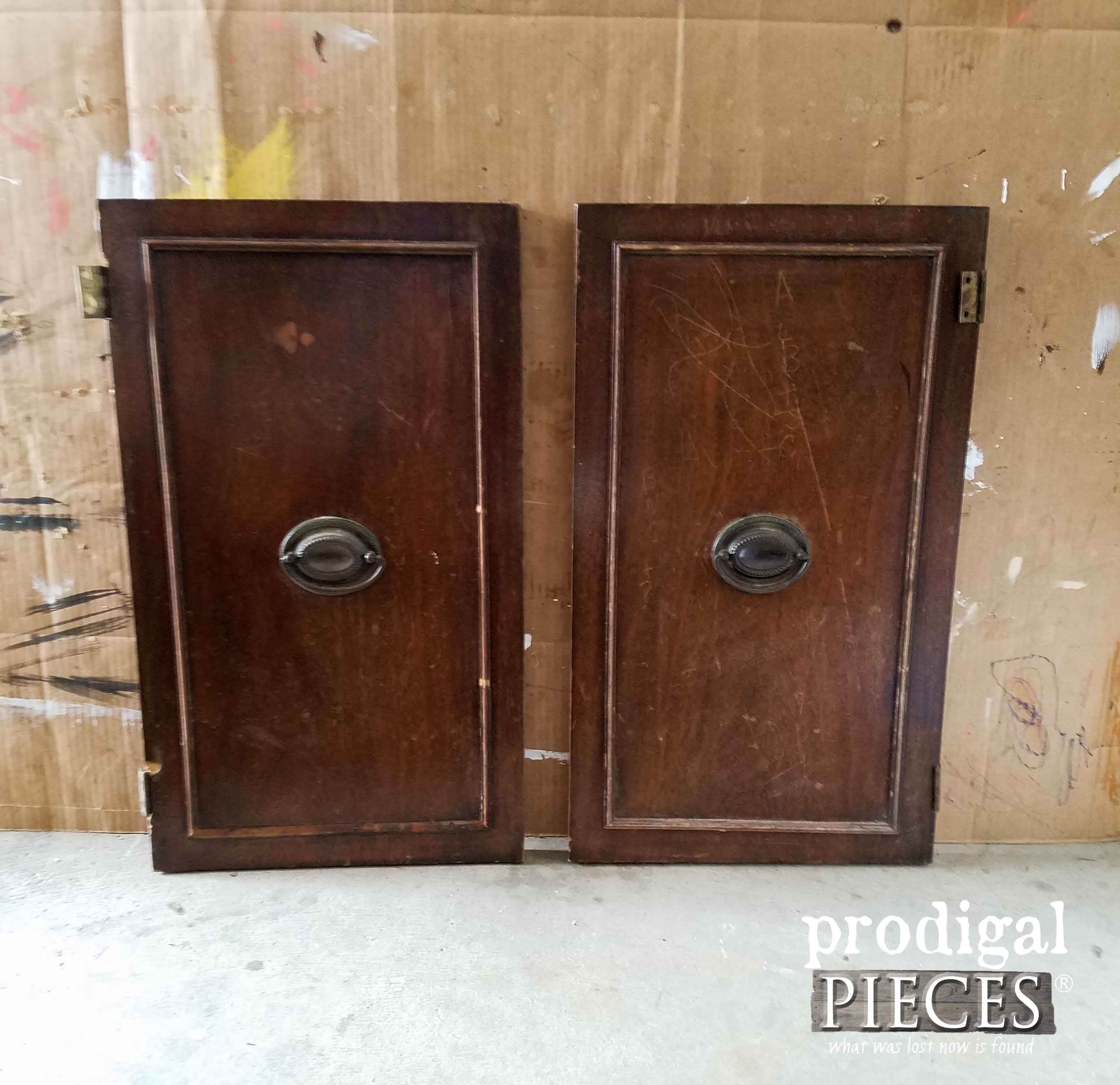 Cupboard Doors Before Repurposing | Prodigal Pieces | prodigalpieces.com