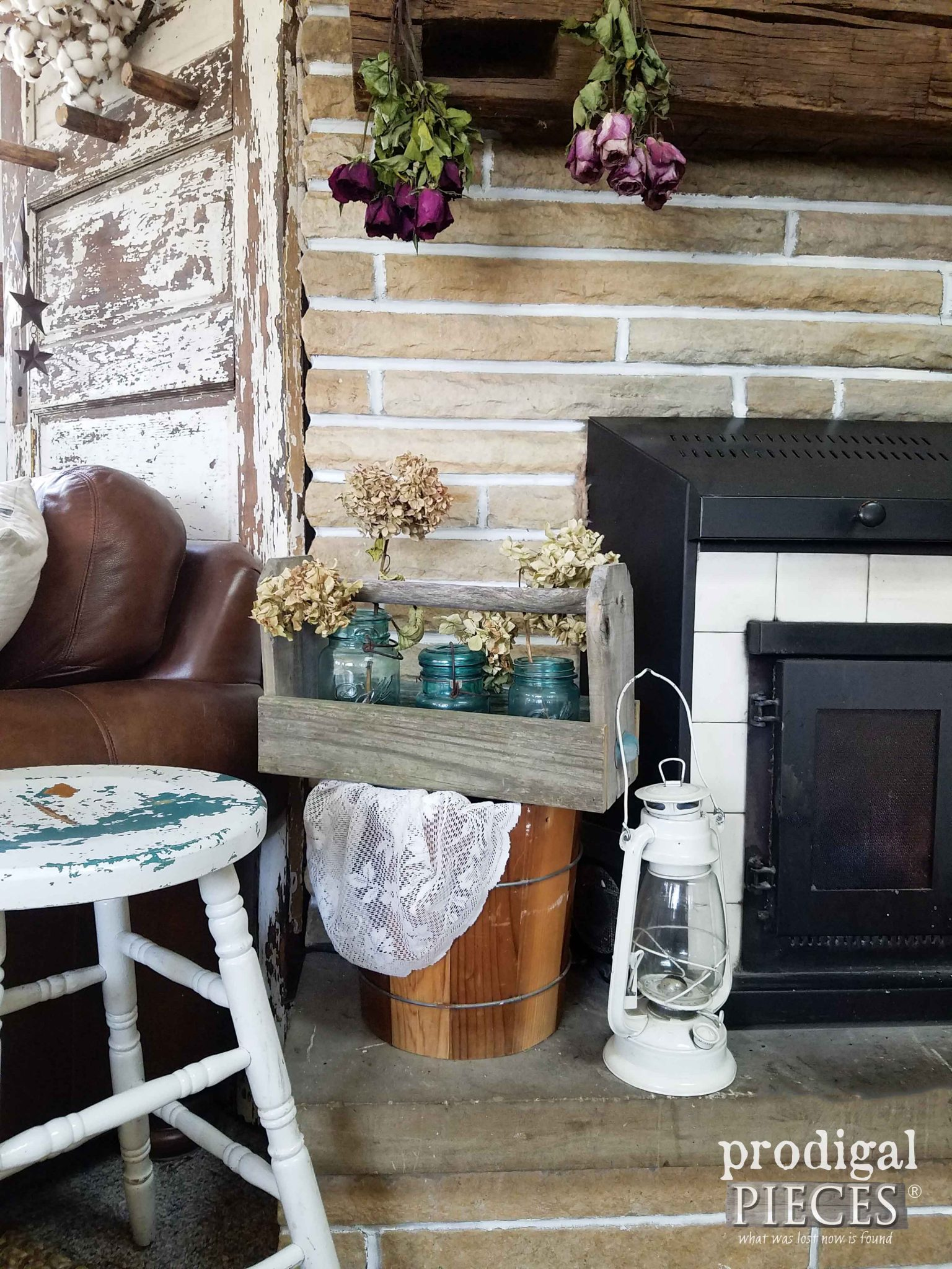 Rustic Farmhouse Style Fireplace Decor | Prodigal Pieces | prodigalpieces.com