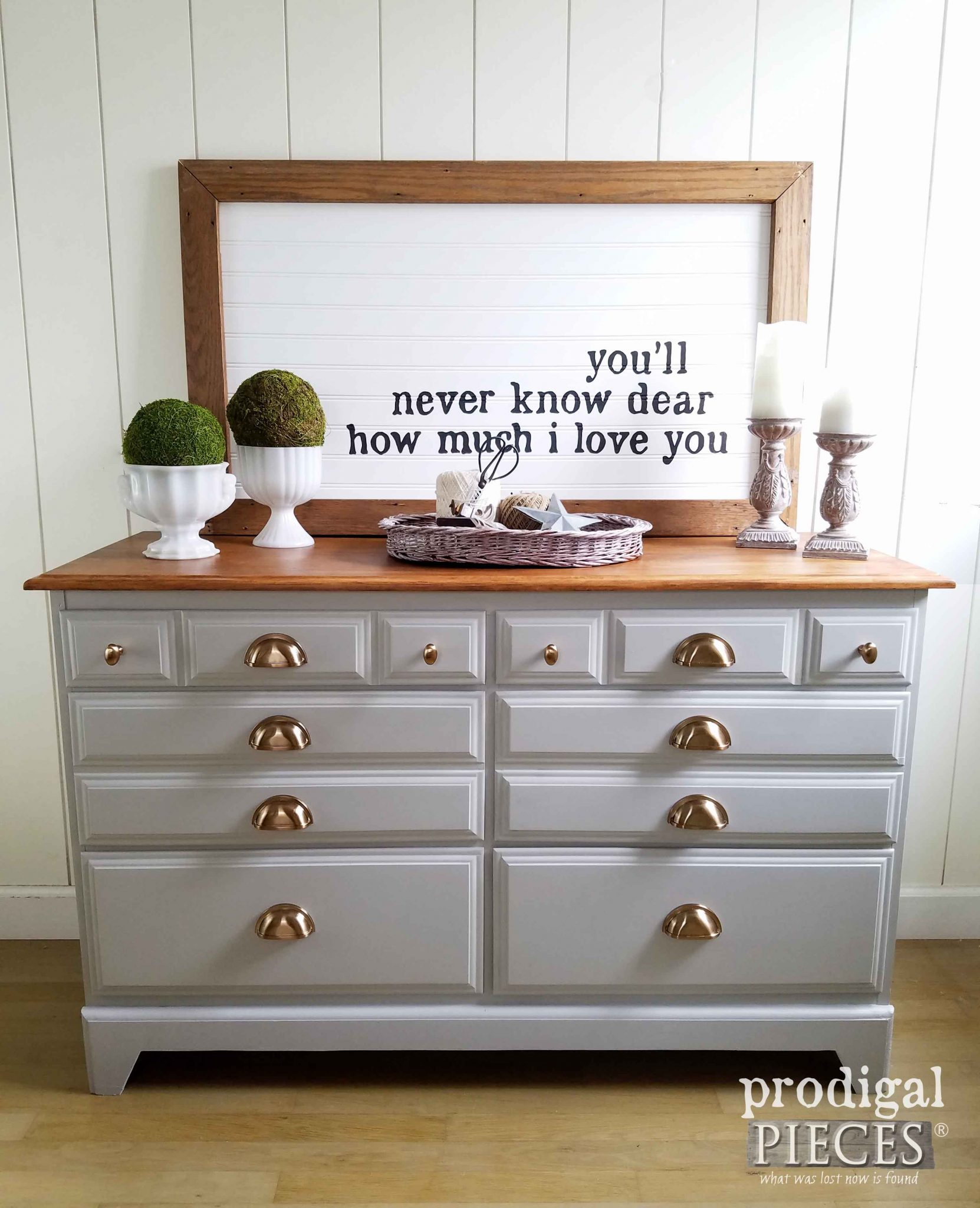 Vintage Dresser Gets Modern Farmhouse Makeover by Prodigal Pieces | prodigalpieces.com