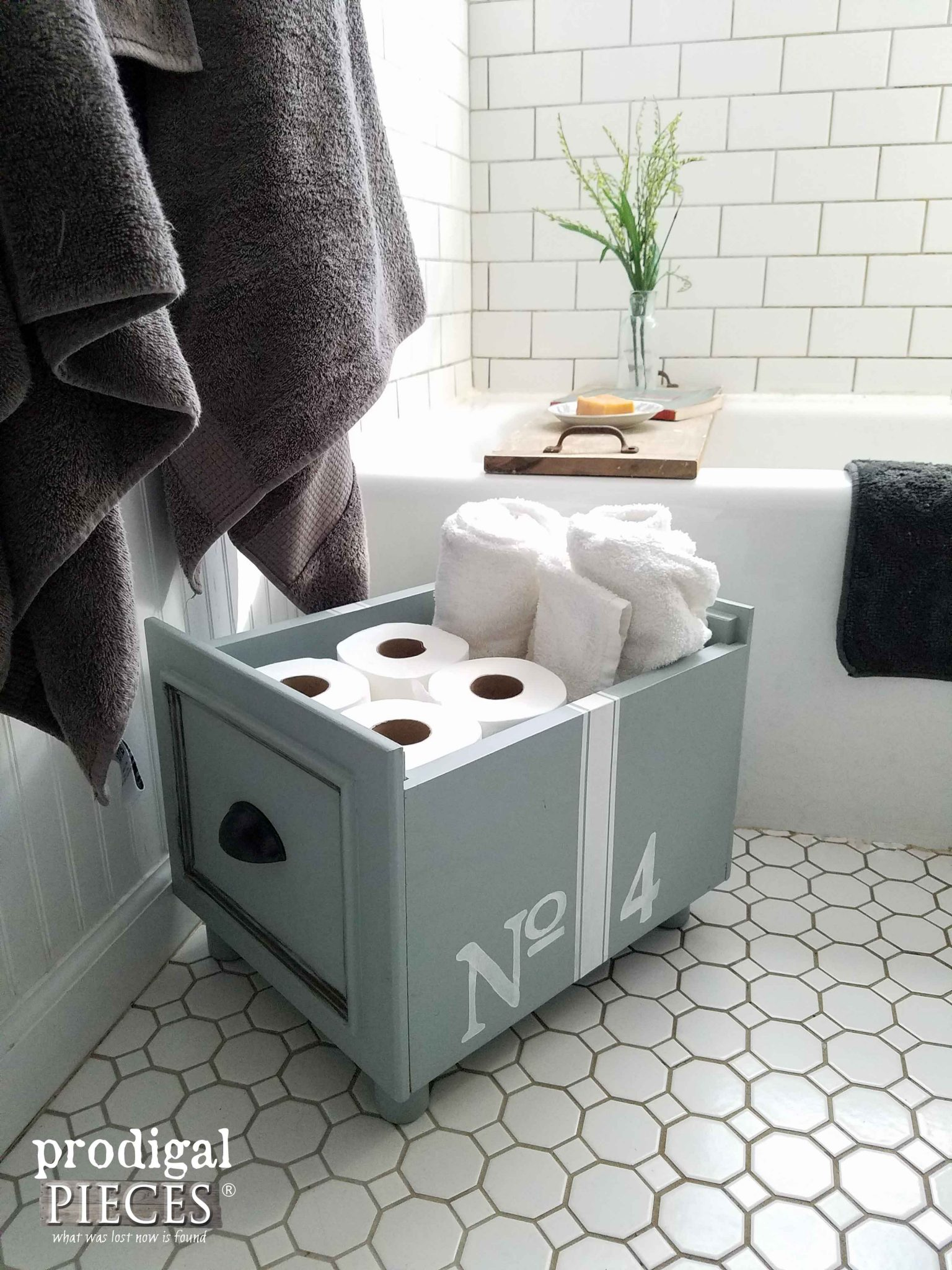 Upcycled Cabinet Doors Turned Storage Box by Prodigal Pieces | prodigalpieces.com