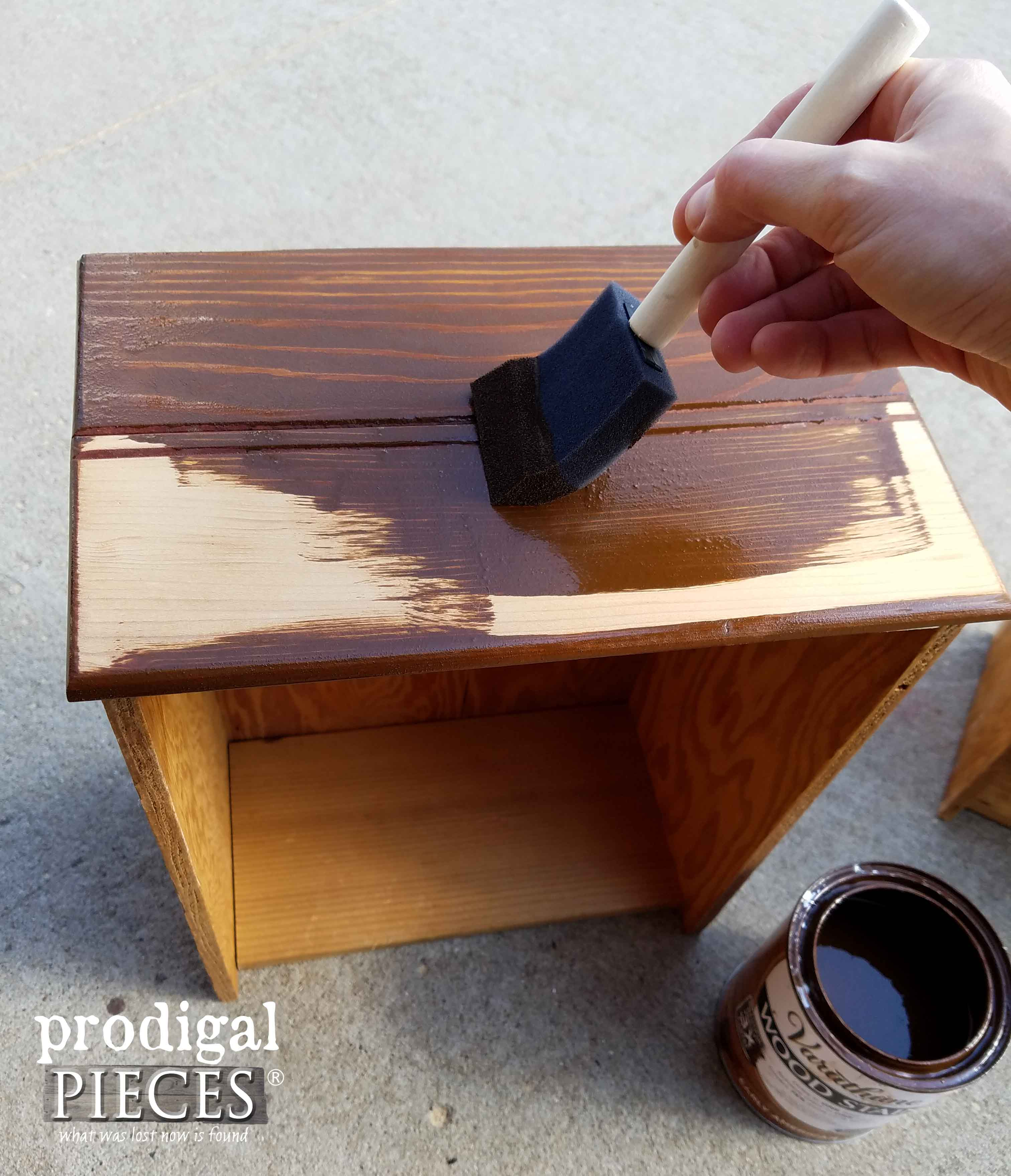 Staining Apothecary Cabinet Drawers | Prodigal Pieces | prodigalpieces.com