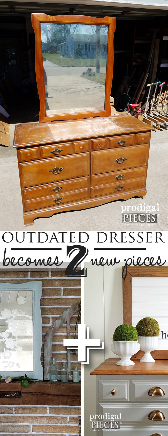 Outdated becomes 2 new projects with a bit of DIY style. See it here by Prodigal Pieces | prodigalpieces.com