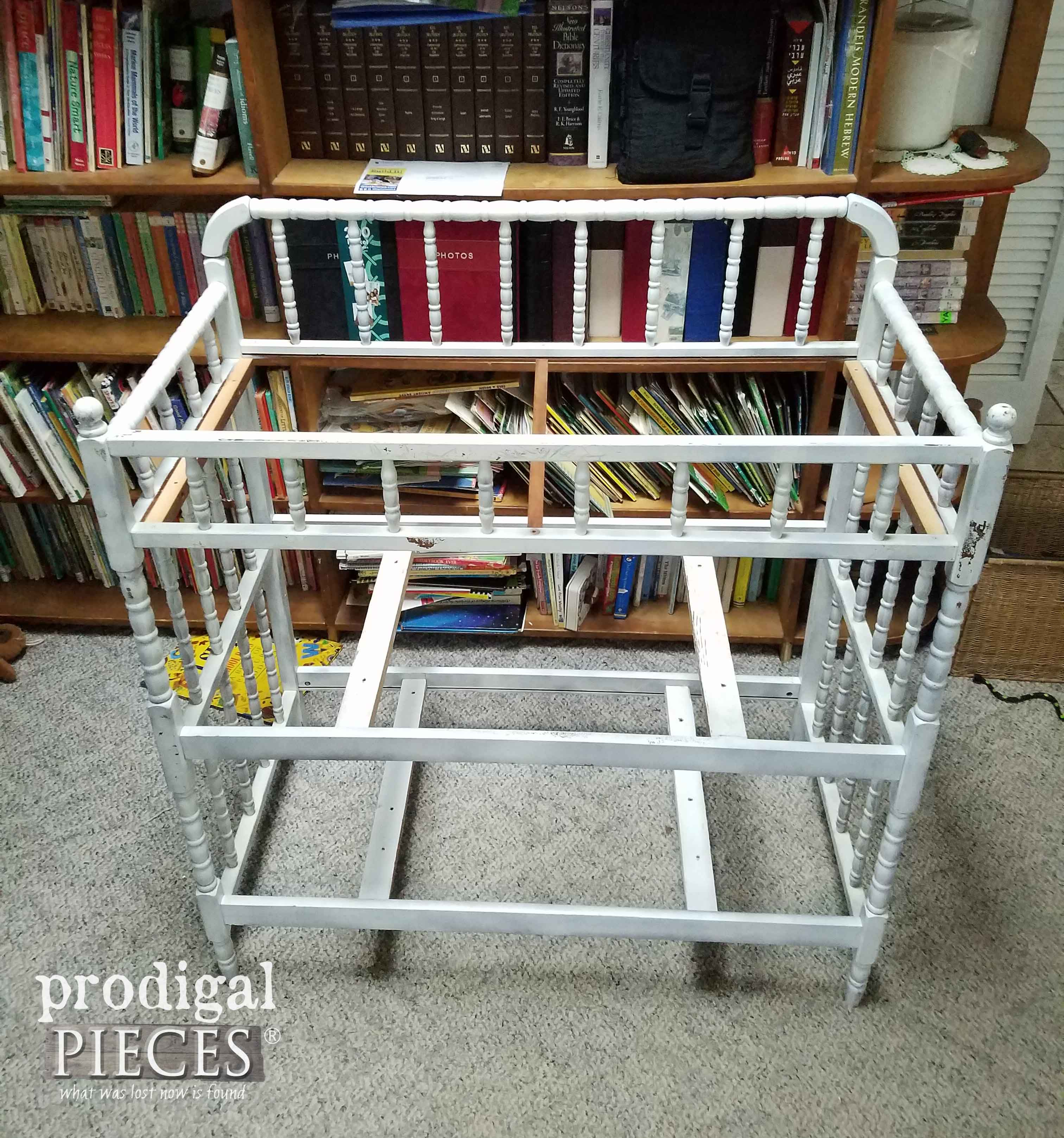 Beefed Up Repurposed Changing Table for Potting Bench by Prodigal Pieces | prodigalpieces.com