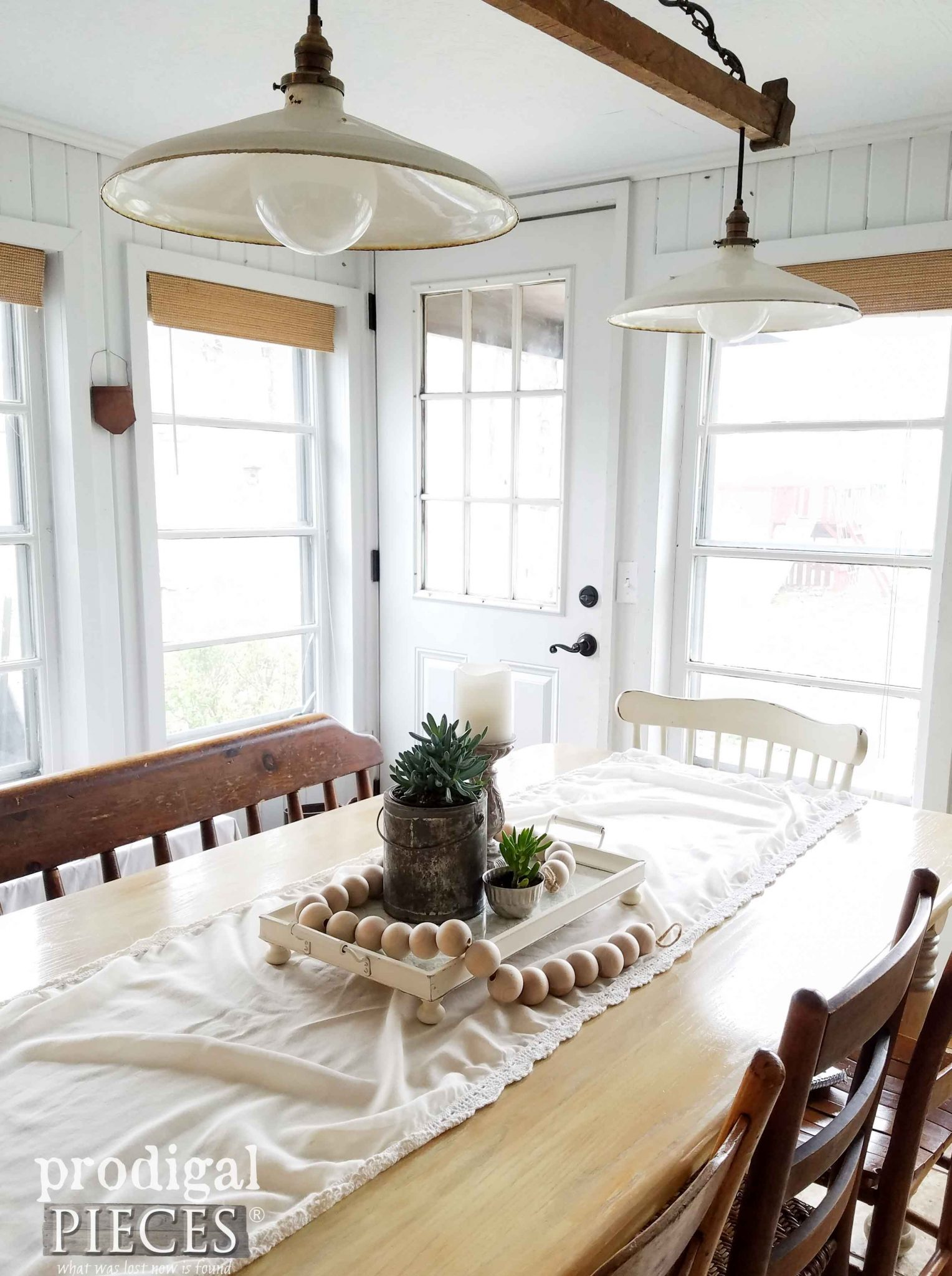 Dining Table Tray for Centerpiece ~ Farmhouse Dining | Prodigal Pieces | prodigalpieces.com