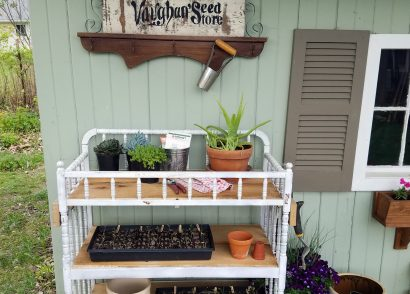 Featured Repurposed Potting Bench by Prodigal Pieces | prodigalpieces.com