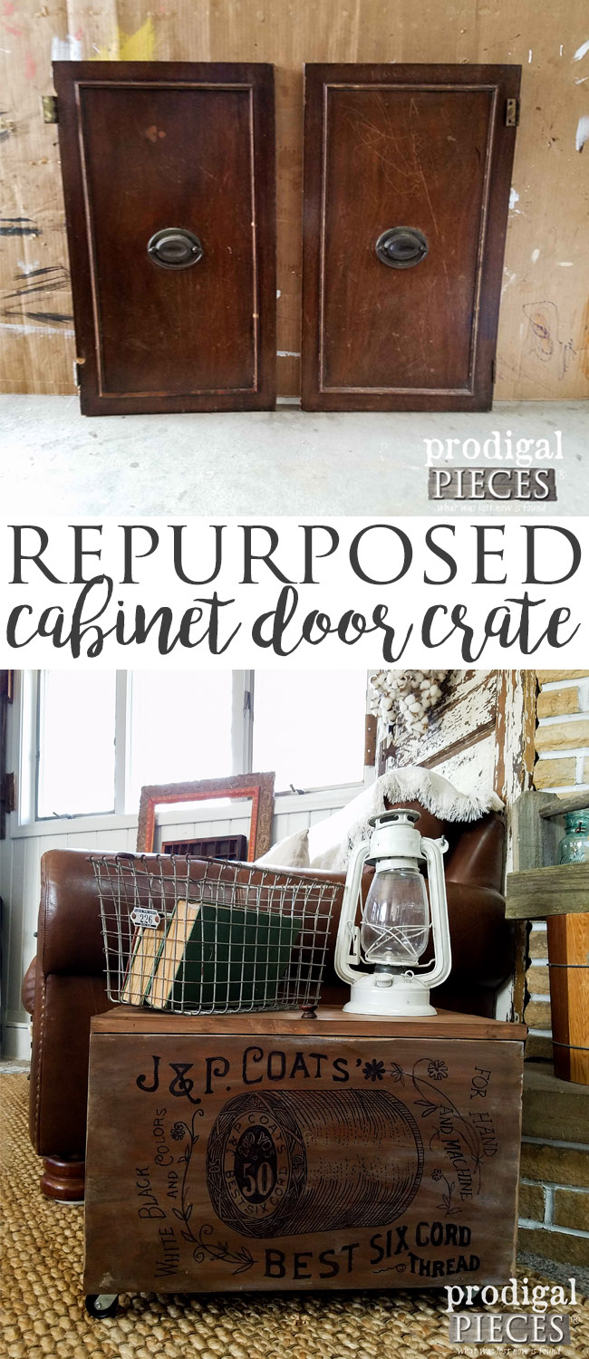 Build a Repurposed Cabinet Door Crate. Go on, create some TRASHURE! See how it's done at Prodigal Pieces | prodigalpieces.com