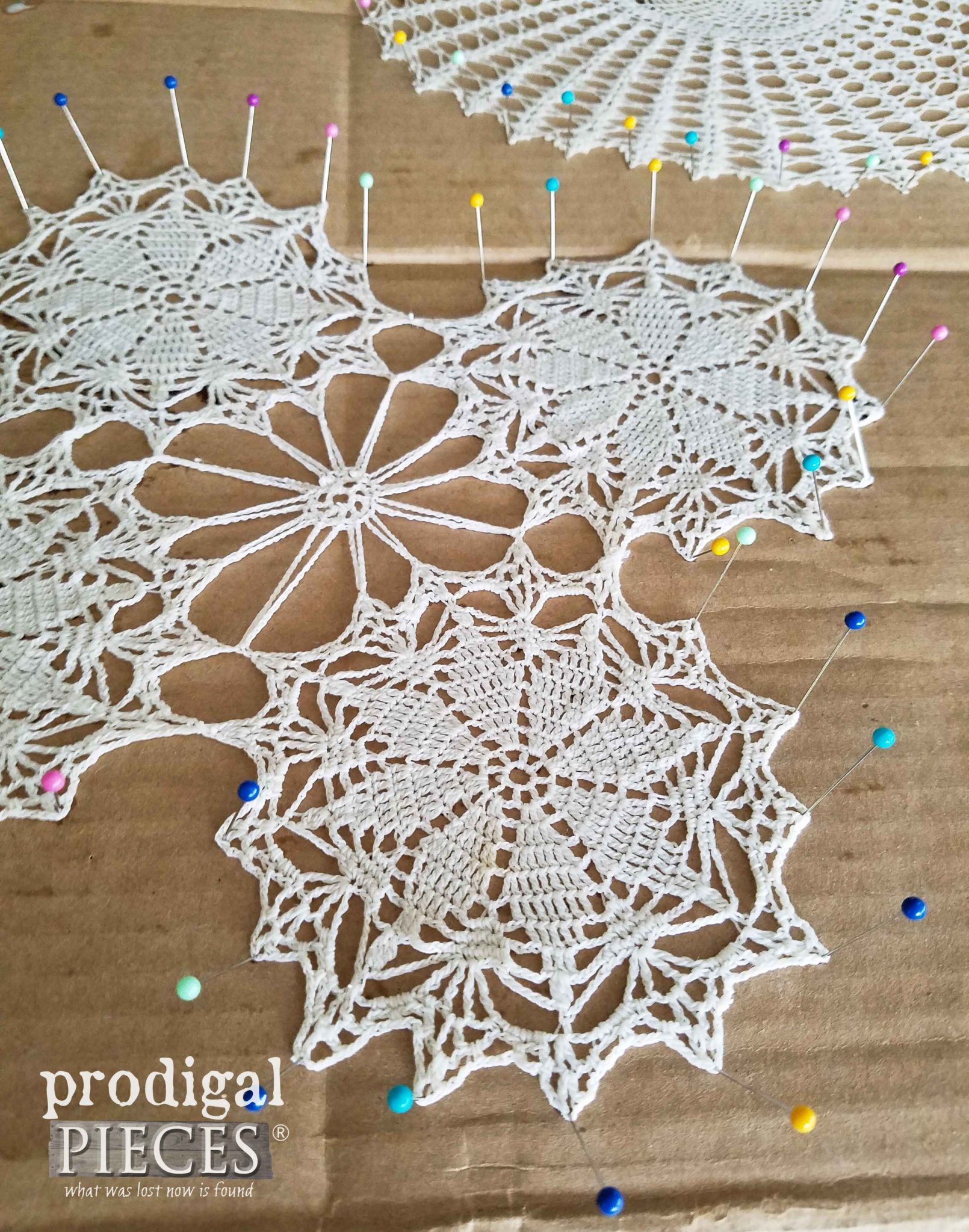 How to Block a Doily by Prodigal Pieces | prodigalpieces.com