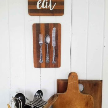 Repurposed Cutting Board Kitchen Wall Art by Prodigal Pieces | prodigalpieces.com