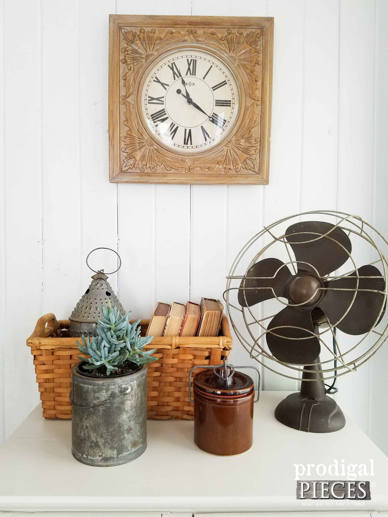Industrial Farmhouse Chic Vignette by Prodigal Pieces | prodigalpieces.com