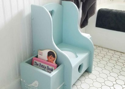 Featured Potty Chair Makeover by Prodigal Pieces | prodigalpieces.com