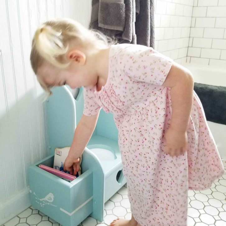 Toddler with Potty Chair for Potty Training | Prodigal Pieces | prodigalpieces.com