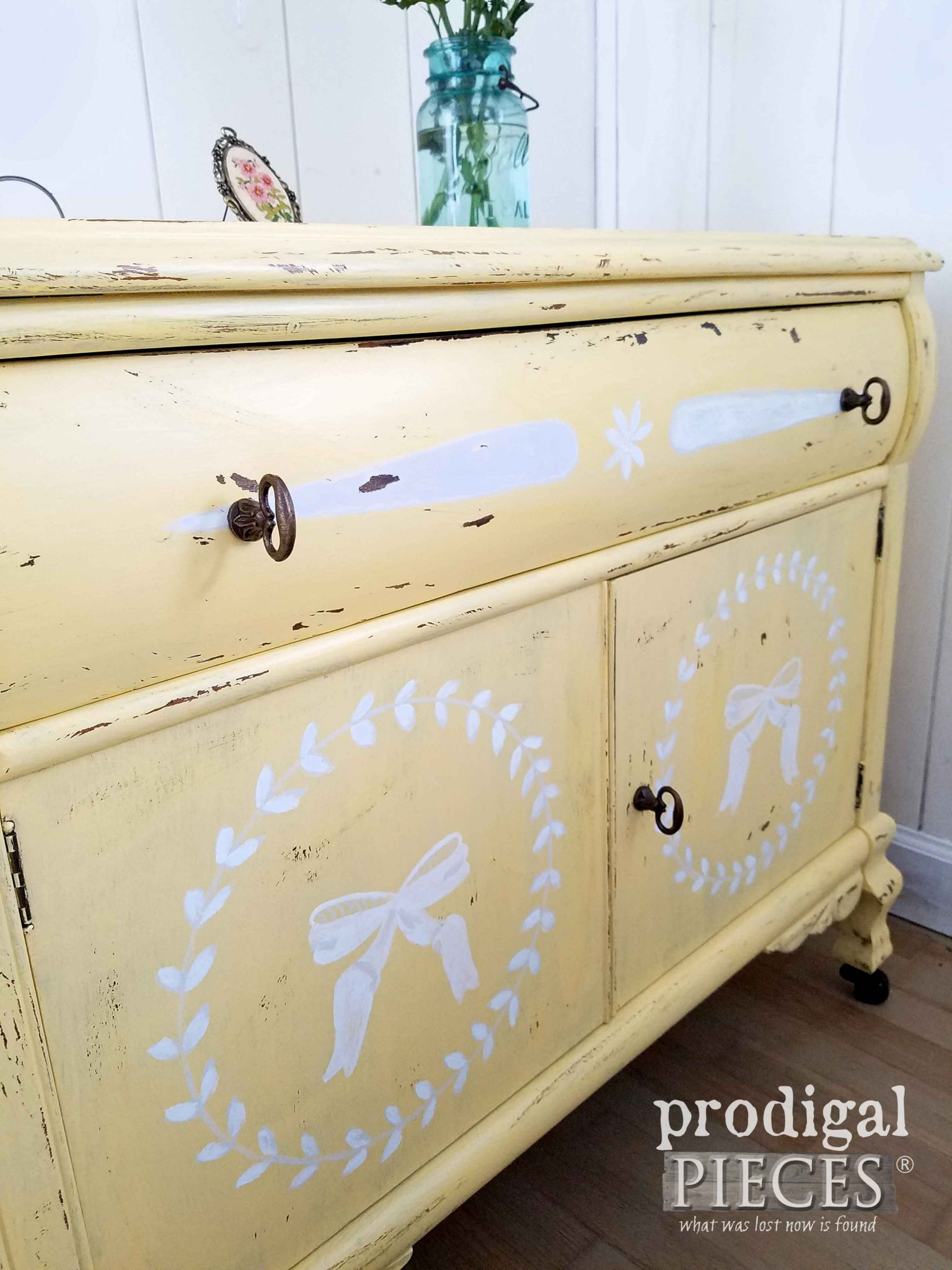 Rustic Brands Hardware of Vintage Chest Makeover by Larissa of Prodigal Pieces | prodigalpieces.com