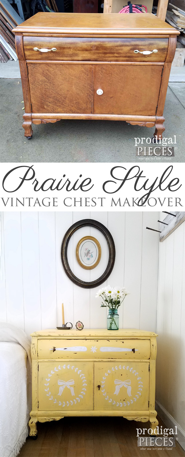 Prairie Style Vintage Chest Makeover by Larissa of Prodigal Pieces | prodigalpieces.com