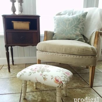 Vintage Shabby Chic Footstool Makeover by Prodigal Pieces with DIY steps at prodigalpieces.com