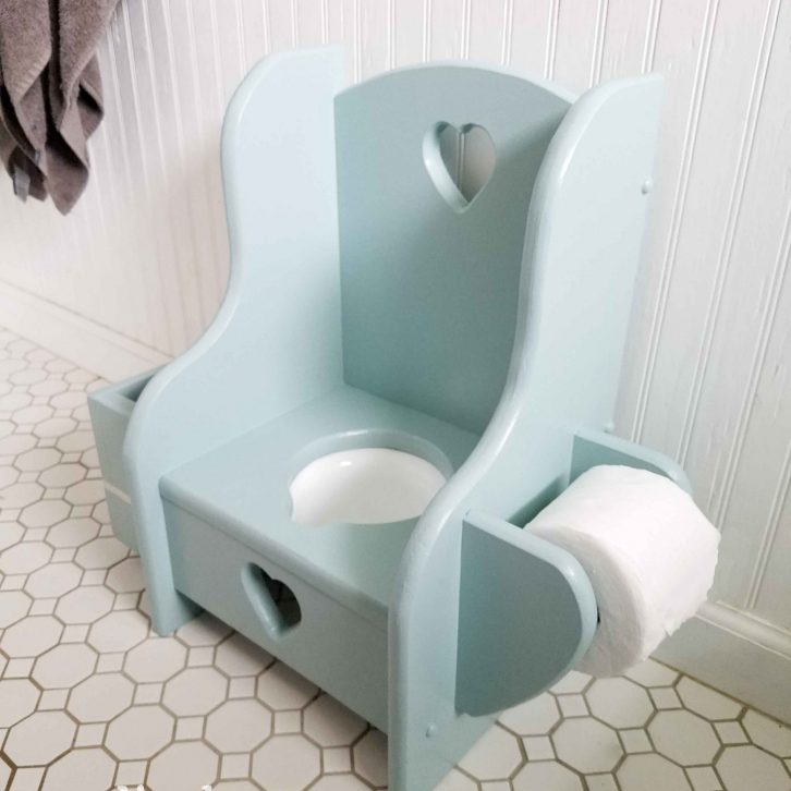 Vintage Wooden Potty Chair with Built-In Toilet Paper Holder | Prodigal Pieces | prodigalpieces.com