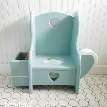 Potty Training Made fun with this Vintage Potty Chair Makeover by Prodigal Pieces | prodigalpieces.com