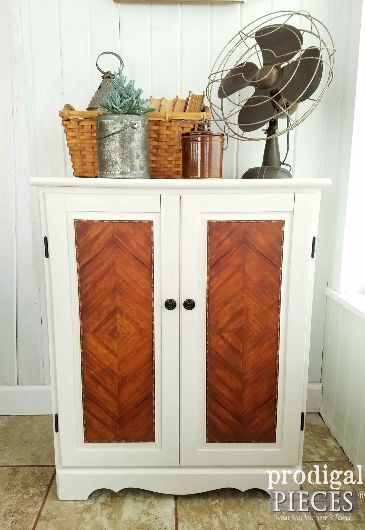 Updated Cabinet with a Modern Farmhouse Flair by Prodigal Pieces | prodigalpieces.com