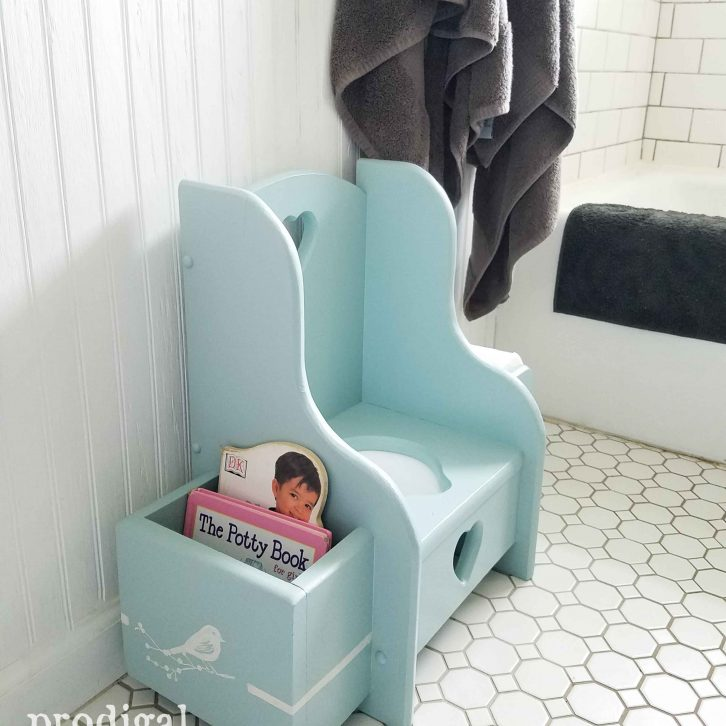 Vintage Potty Chair gets cute-factor update with paint by Prodigal Pieces | prodigalpieces.com