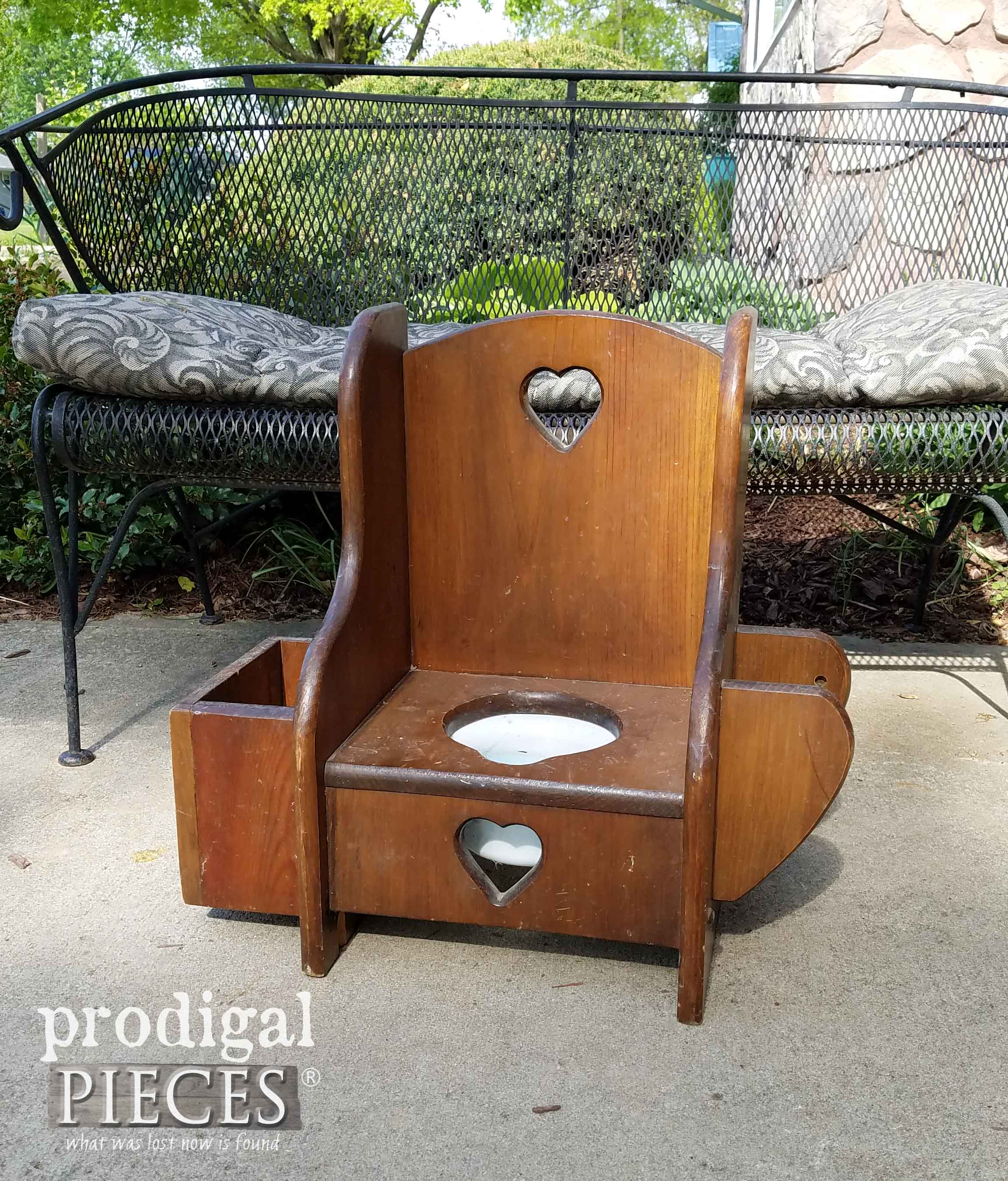 Vintage Potty Chair Found Curbside | Prodigal Pieces | prodigalpieces.com
