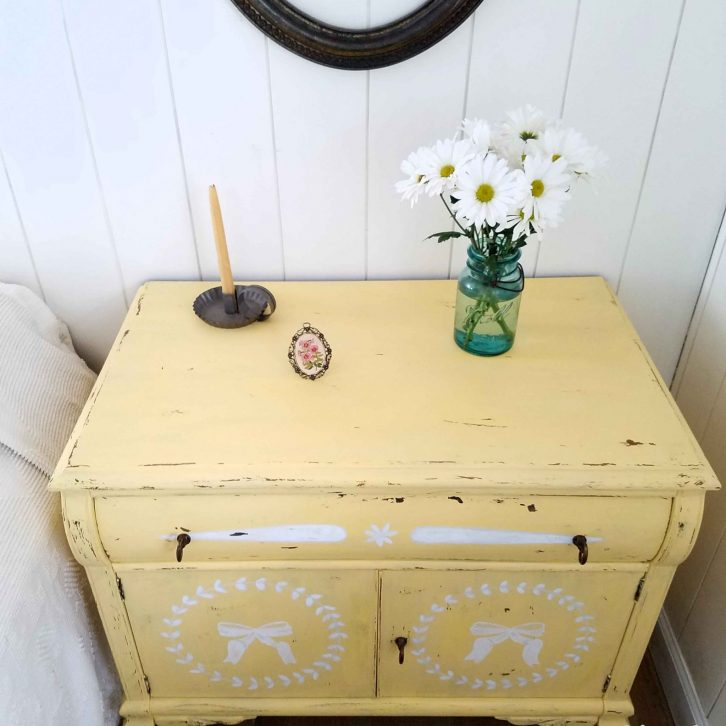 Distressed Chest of Drawers in Jackfruit Yellow by Larissa of Prodigal Pieces | prodigalpieces.com
