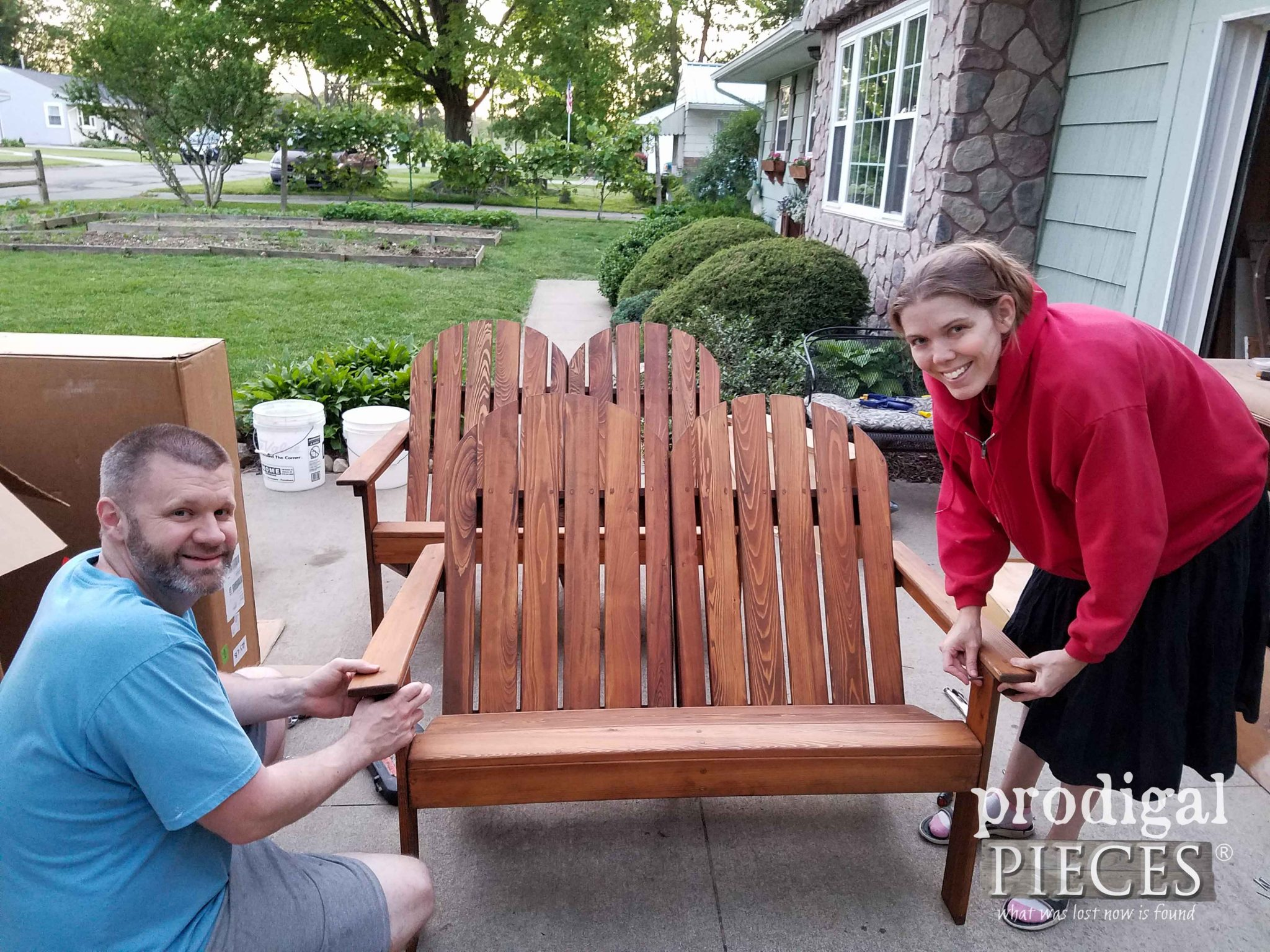 Getting Adirondack Loveseats Assembled | Prodigal Pieces | prodigalpieces.com