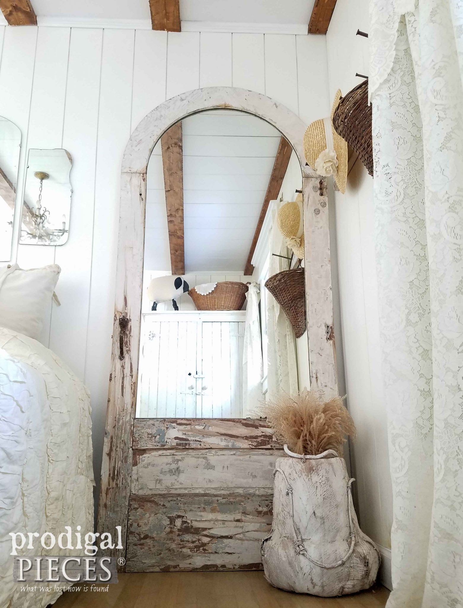Arched Door Found Curbside Turned into Gorgeous Mirror by Prodigal Pieces | prodigalpieces.com