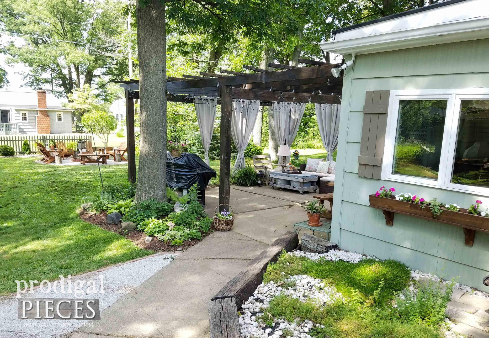 Outdoor Back Yard Design by Prodigal Pieces | prodigalpieces.com