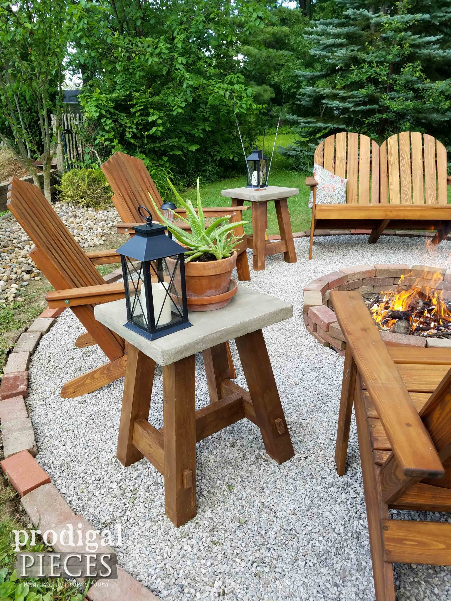 DIY Outdoor Concrete Table for Patio or Deck by Prodigal Pieces | prodigalpieces.com