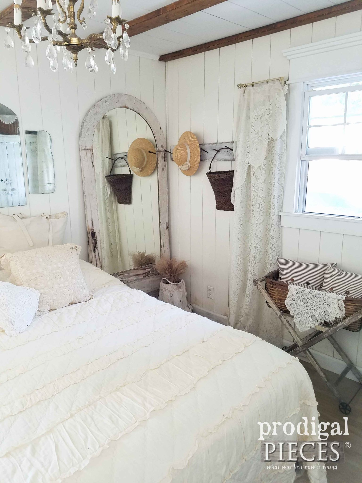 Farmhouse Style Bedroom Decorated with Repurposed and Found Items by Prodigal Pieces | prodigalpieces.com