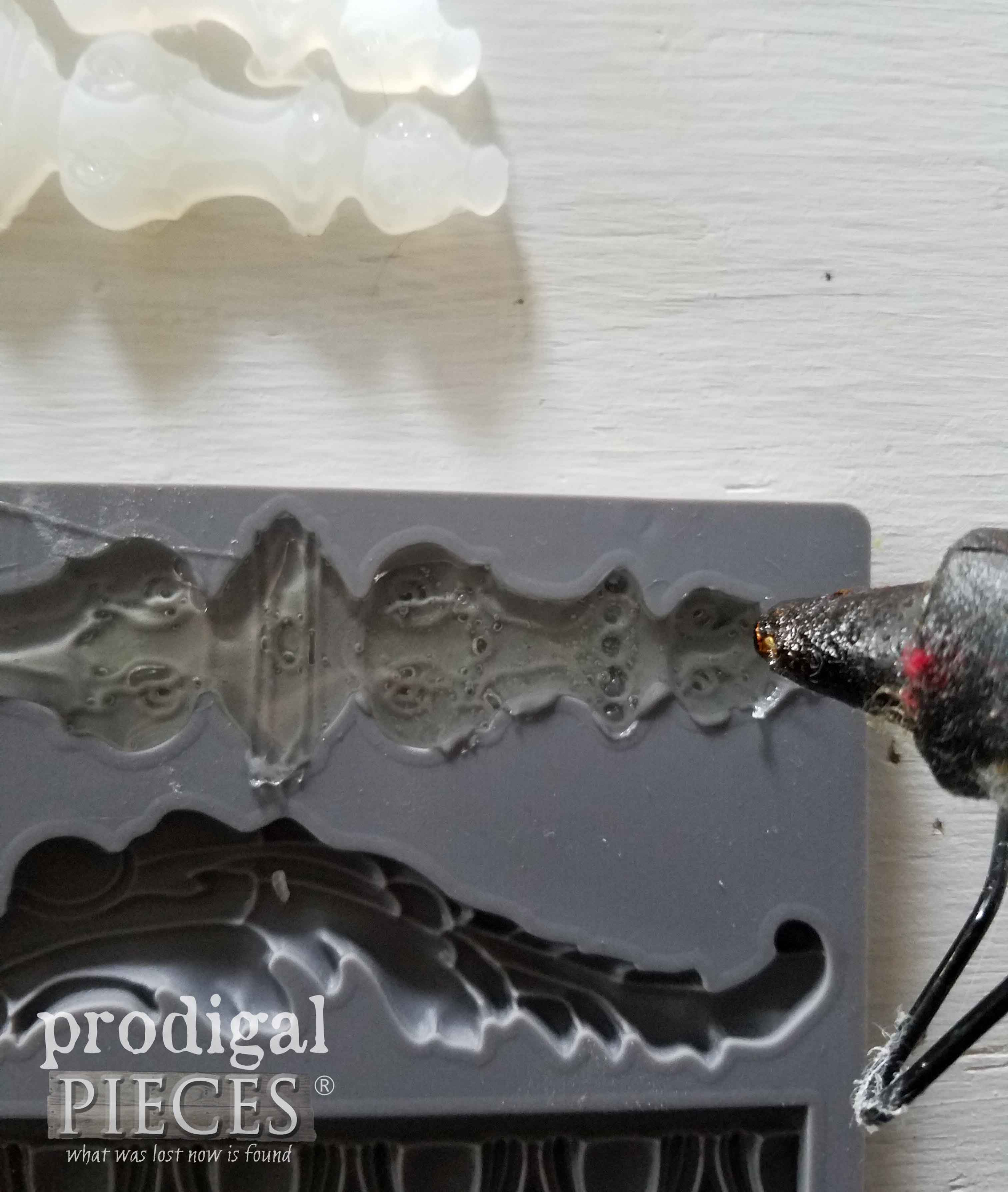 Use Hot Glue in Your Iron Orchid Designs Mold | prodigalpieces.com