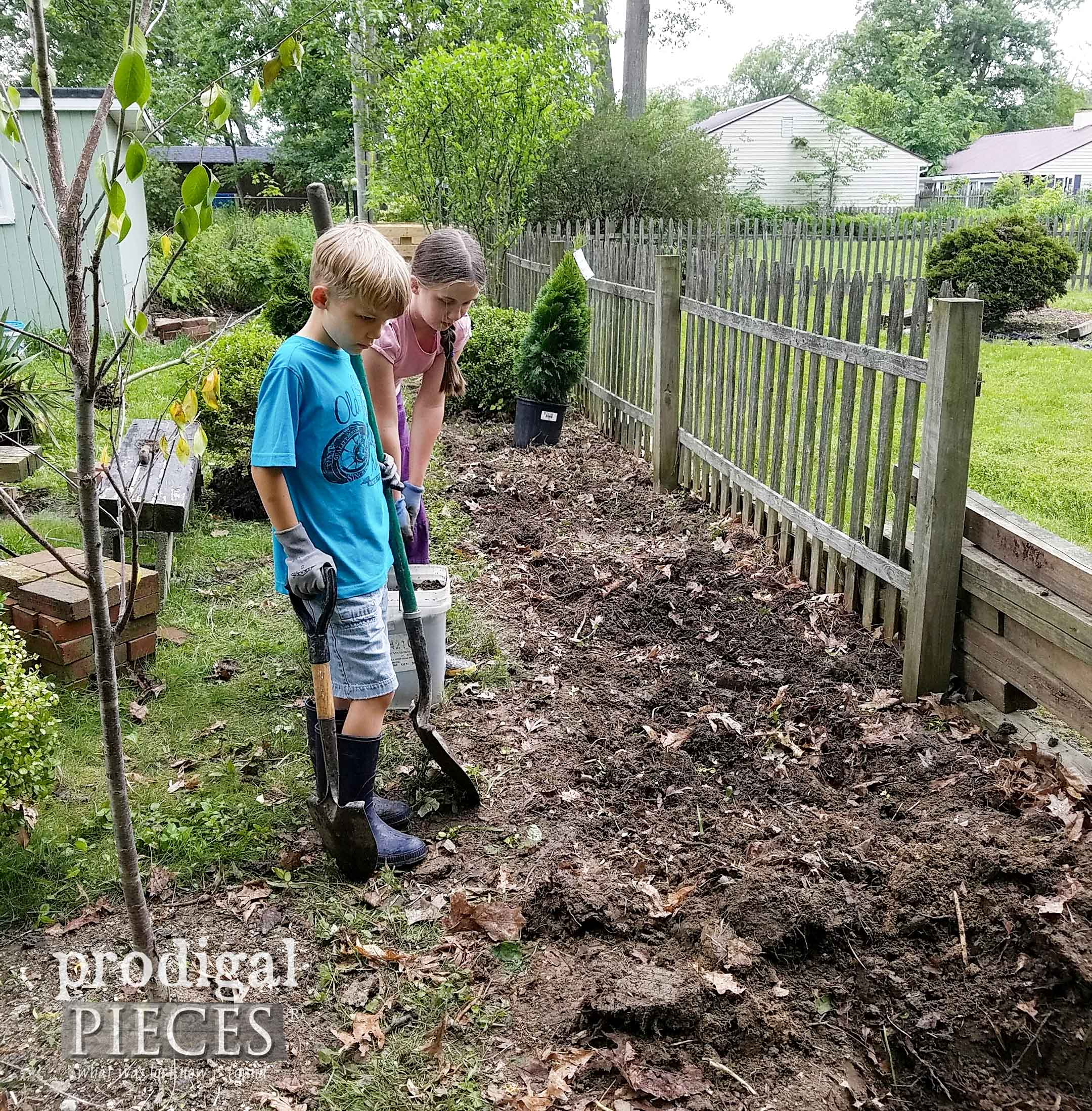 Kids Helping to Landscape | prodigalpieces.com