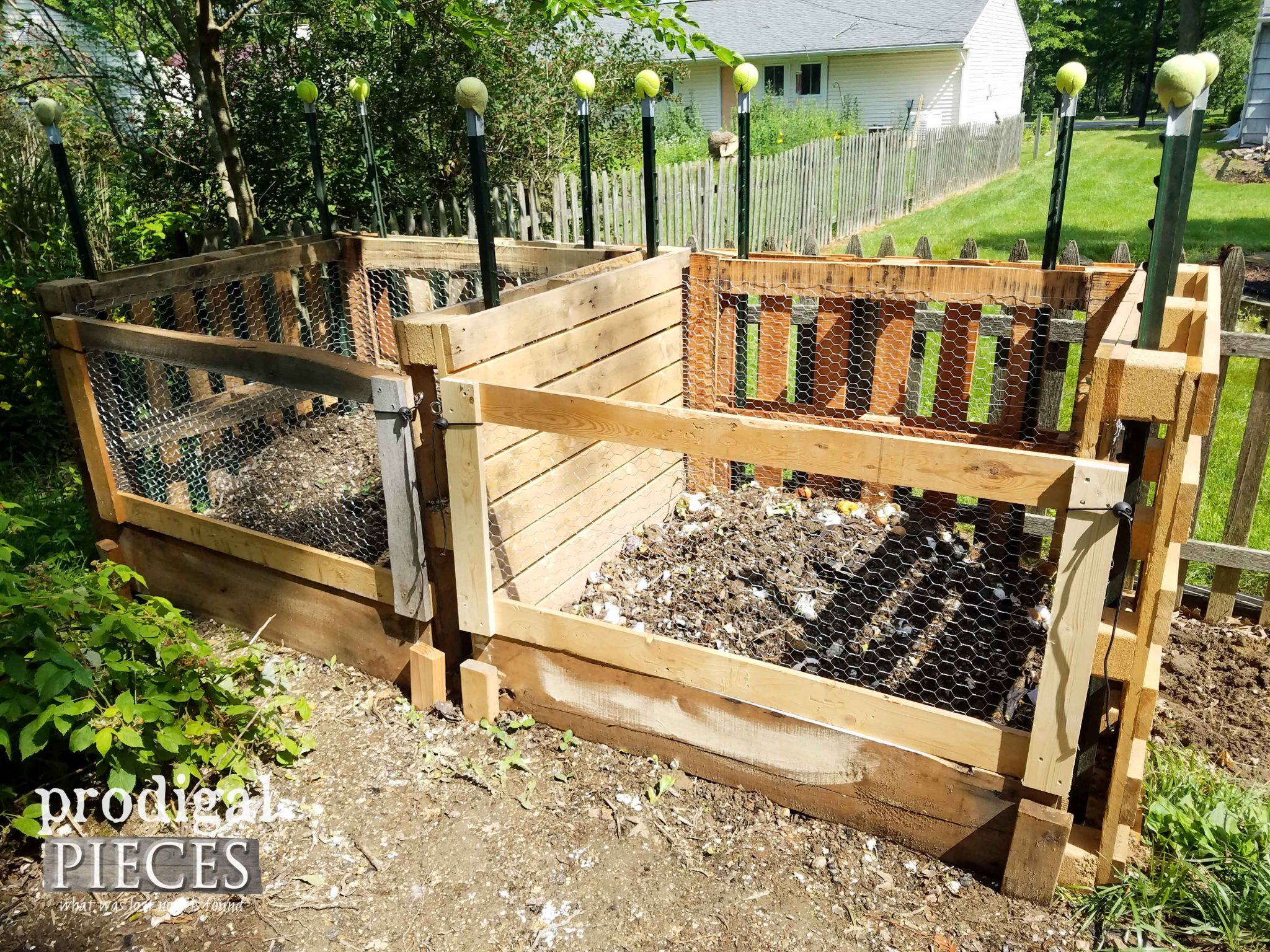 Build a Pallet Wood Compost Bin for next to nothing. See it done by Prodigal Pieces | prodigalpieces.com