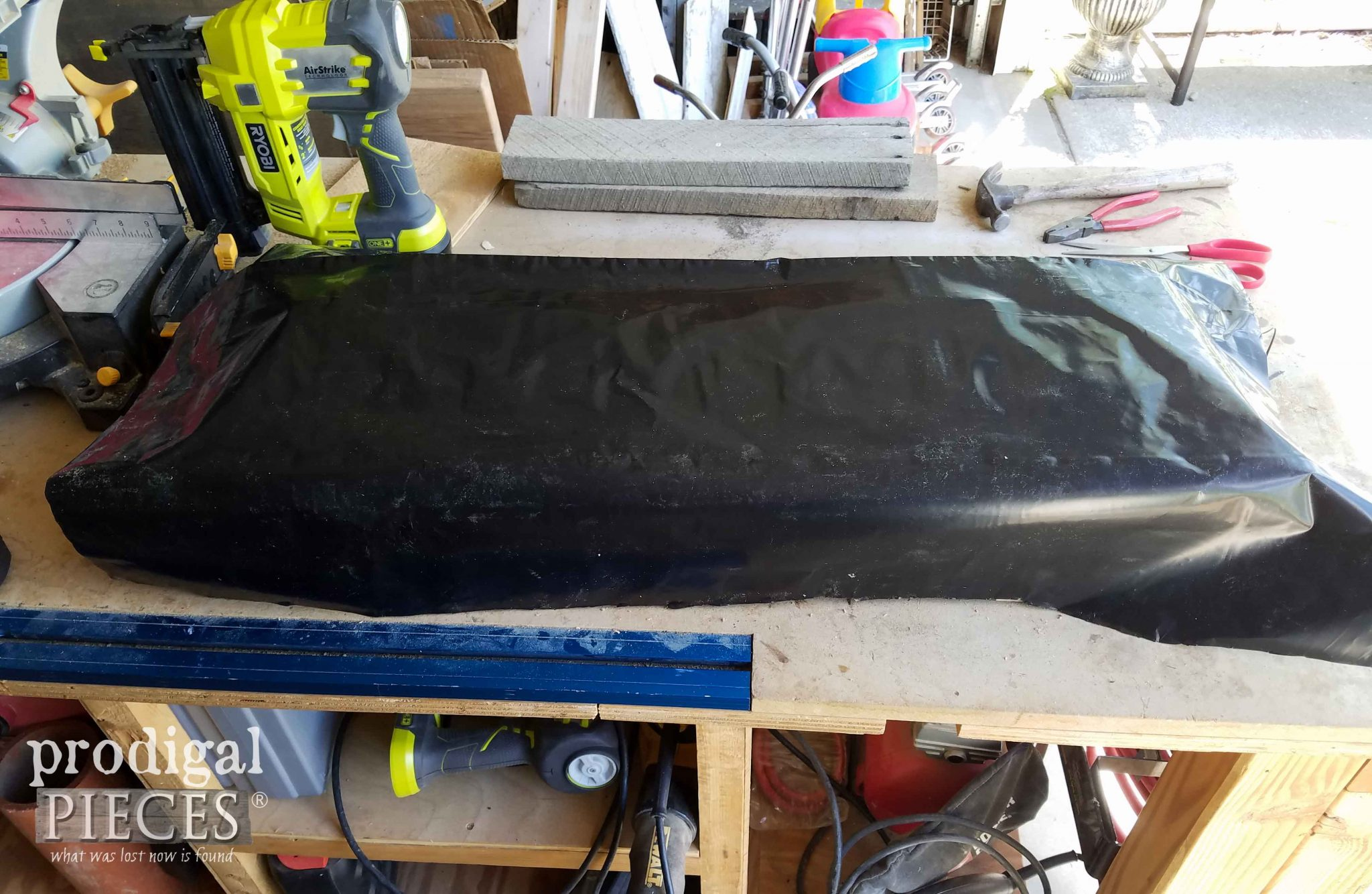 Black Plastic Sheeting for DIY Planter | prodigalpieces.com