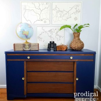 Vintage Art Deco Buffet Revived with Color by Prodigal Pieces | prodigalpieces.com