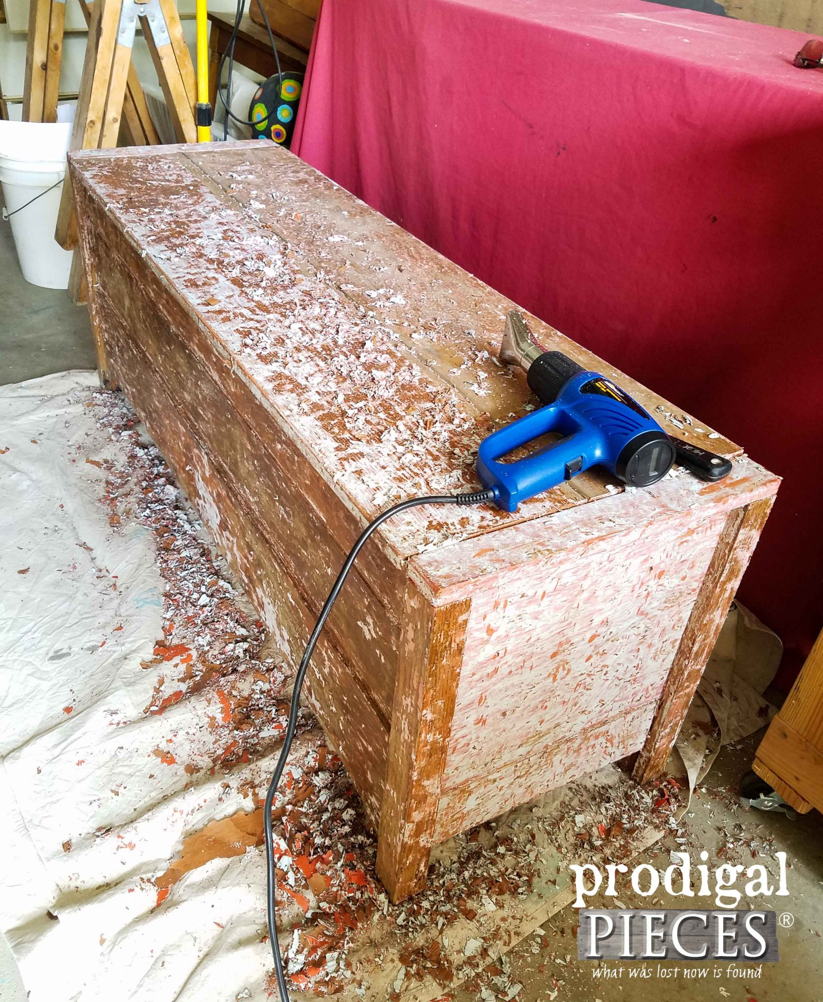 Blanket Chest with Paint Removed | prodigalpieces.com