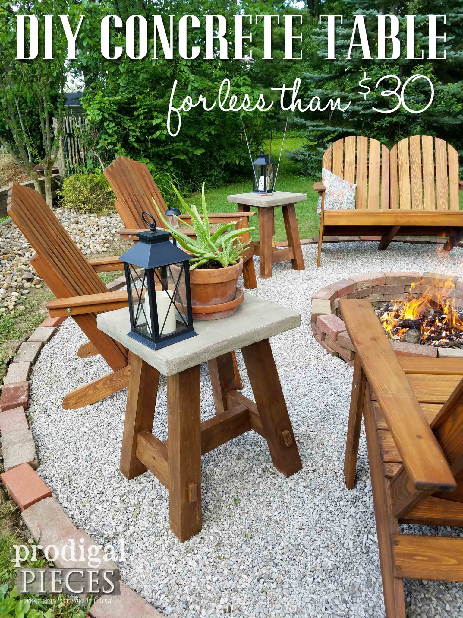 Build this Concrete Table for Less than $30. Easy-to-follow build plans by Prodigal Pieces | prodigalpieces.com