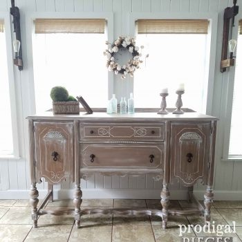 Farmhouse Style Antique Buffet with Glazing by Prodigal Pieces | prodigalpieces.com