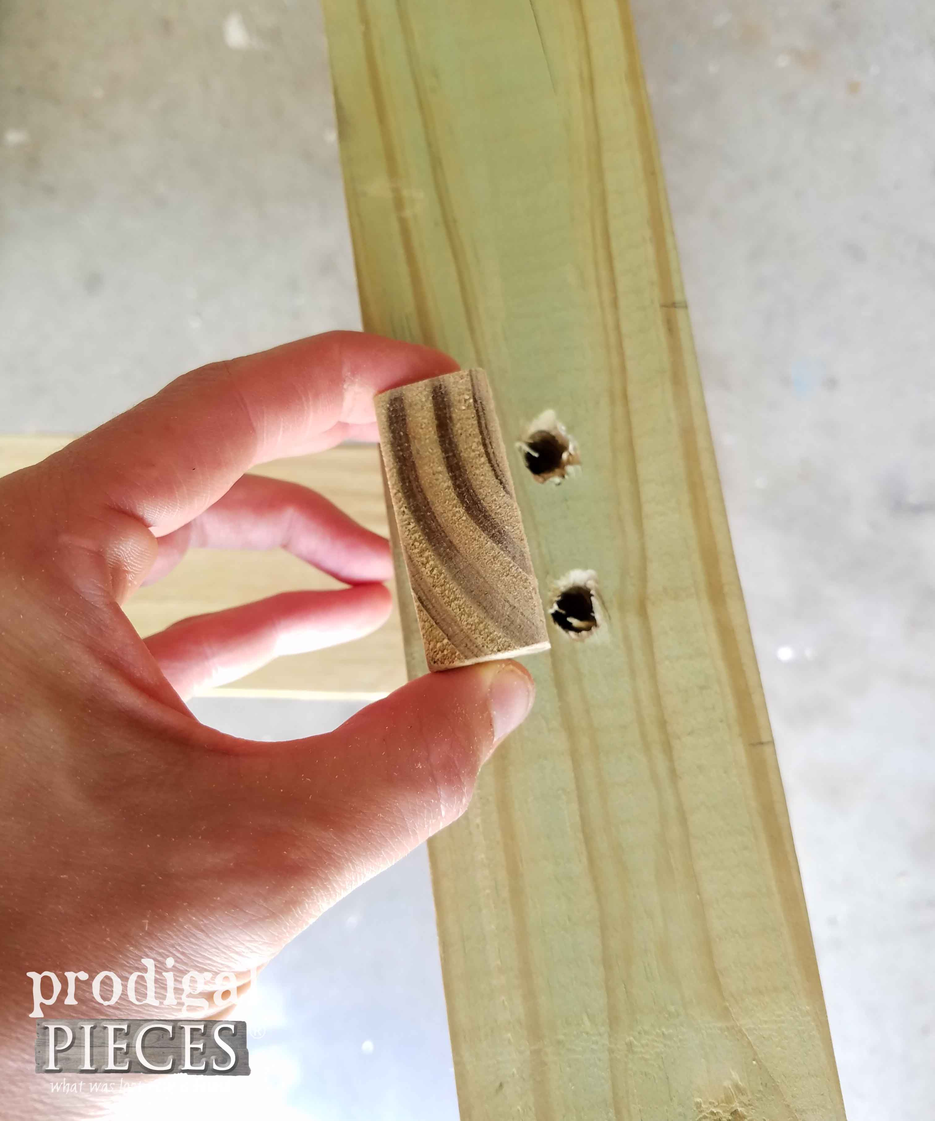 Faux Mortise and Tenon Joint for DIY Concrete Table by Prodigal Pieces | prodigalpieces.com
