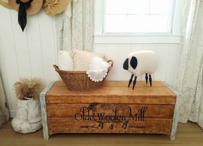 Featured Farmhouse Style Blanket Chest by Prodigal Pieces | prodigalpieces.com