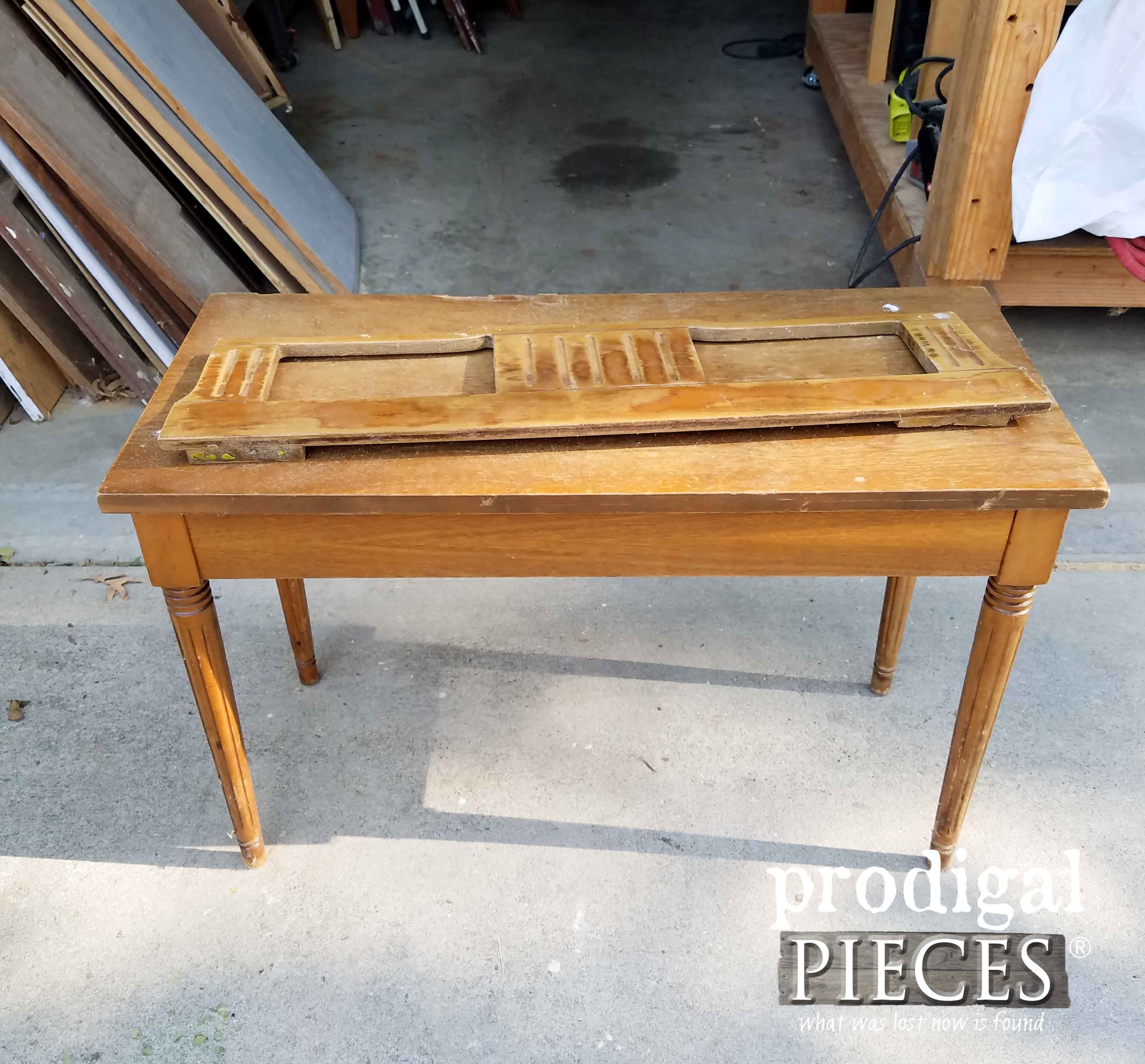 Curbside Piano Bench before Makeover by Prodigal Pieces | prodigalpieces.com