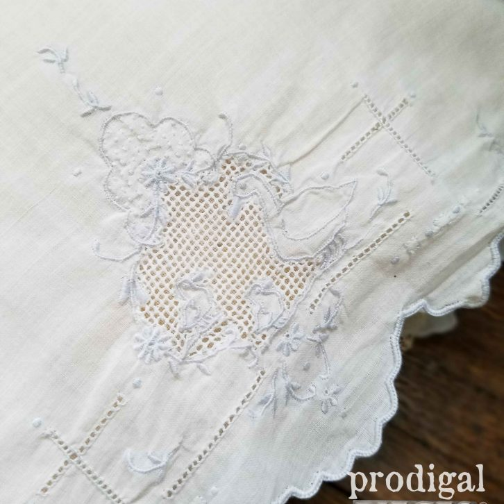 Beautiful Handwork Christening Pillowcase for Baby available at Prodigal Pieces | prodigalpieces.com