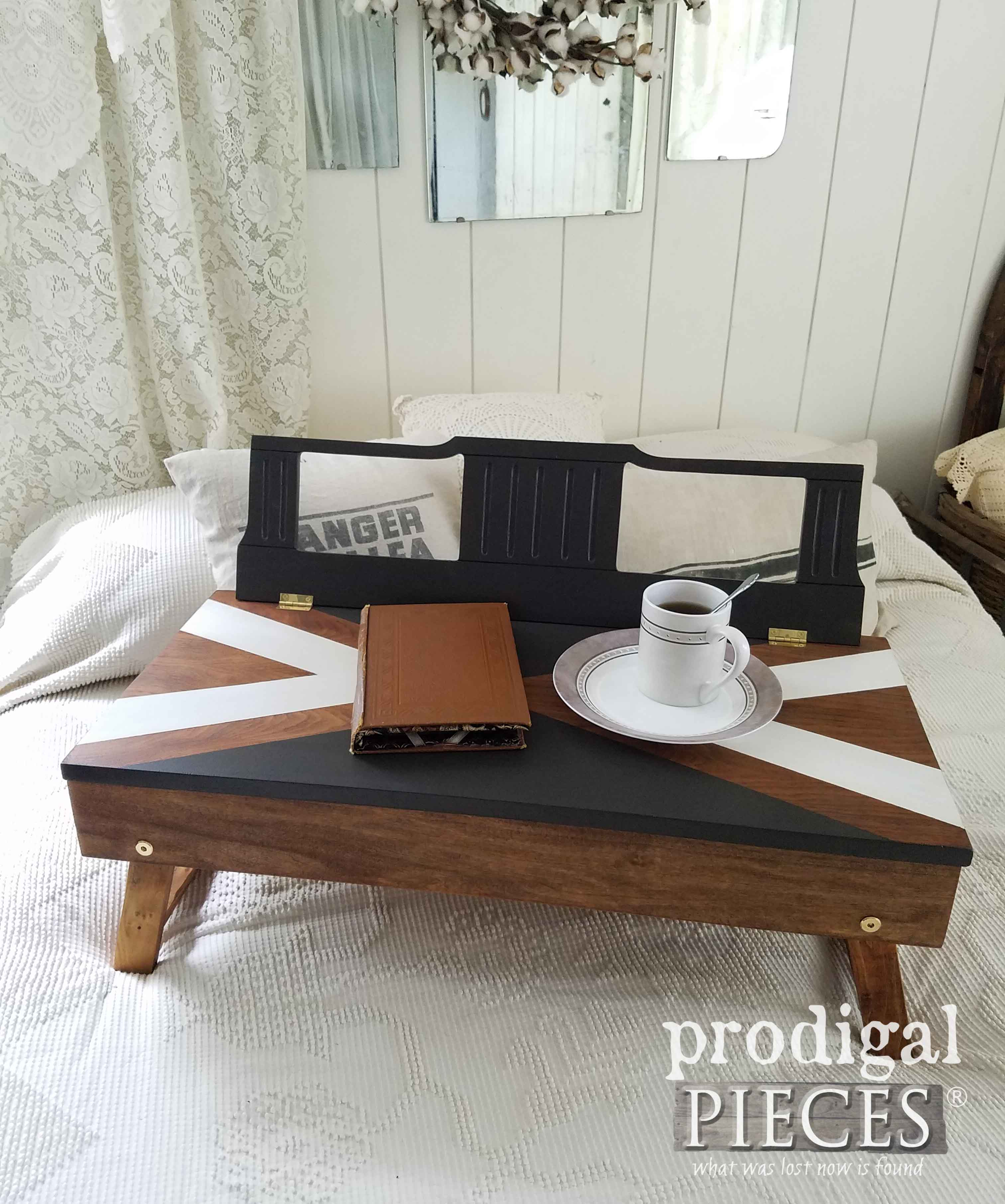 DIY Upcycled Lap Desk from Piano Bench and Music Rest by Prodigal Pieces | prodigalpieces.com
