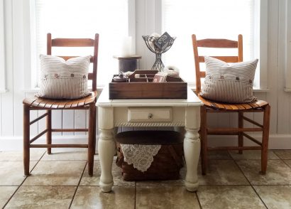 Featured Farmhouse Side Table by Prodigal Pieces | prodigalpieces.com