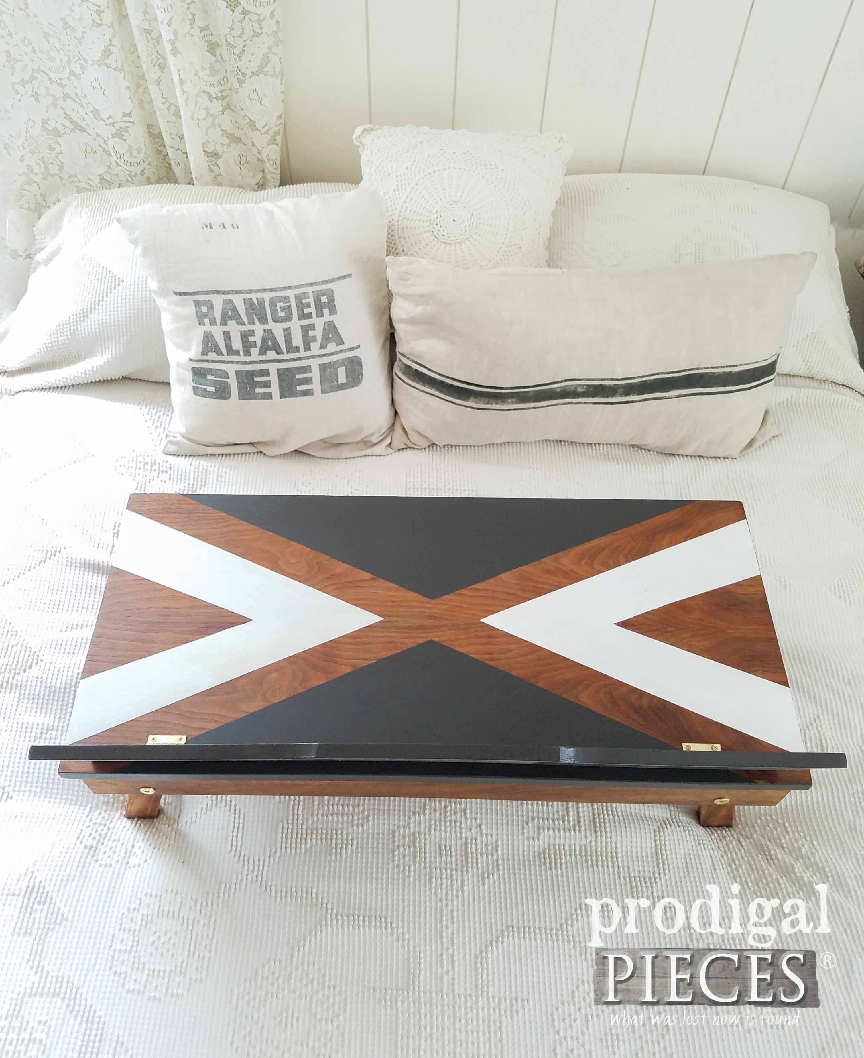 Upcycled Piano Bench becomes a Lap Desk with Storage by Prodigal Pieces | prodigalpieces.com