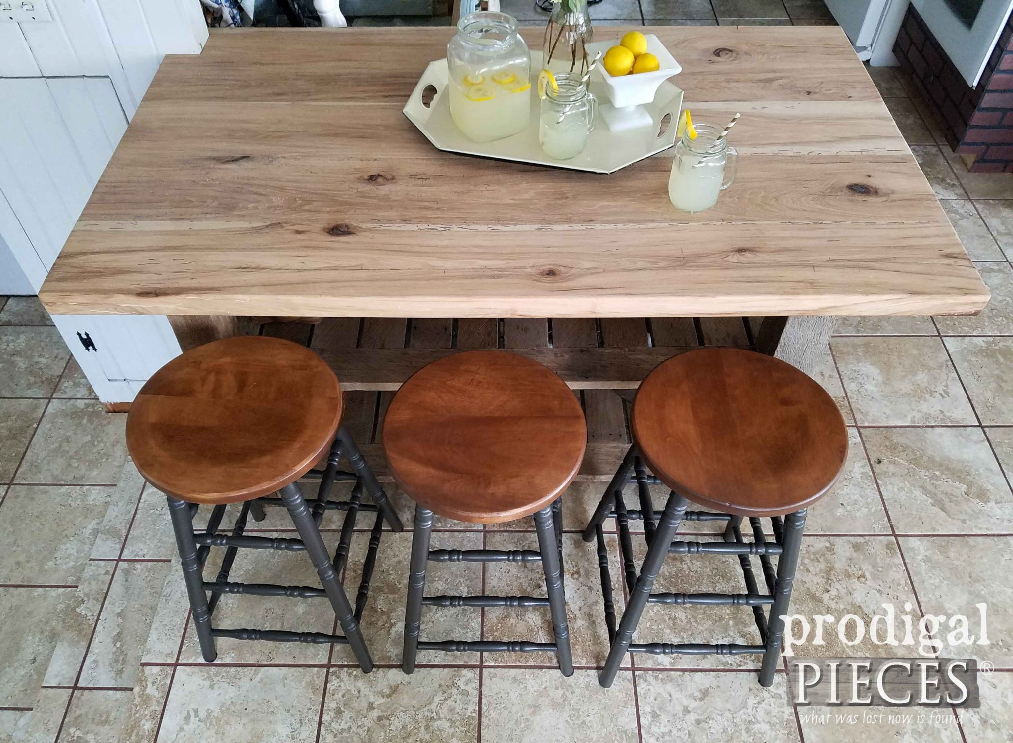 Reclaimed Hickory Wood Countertops by Prodigal Pieces | prodigalpieces.com