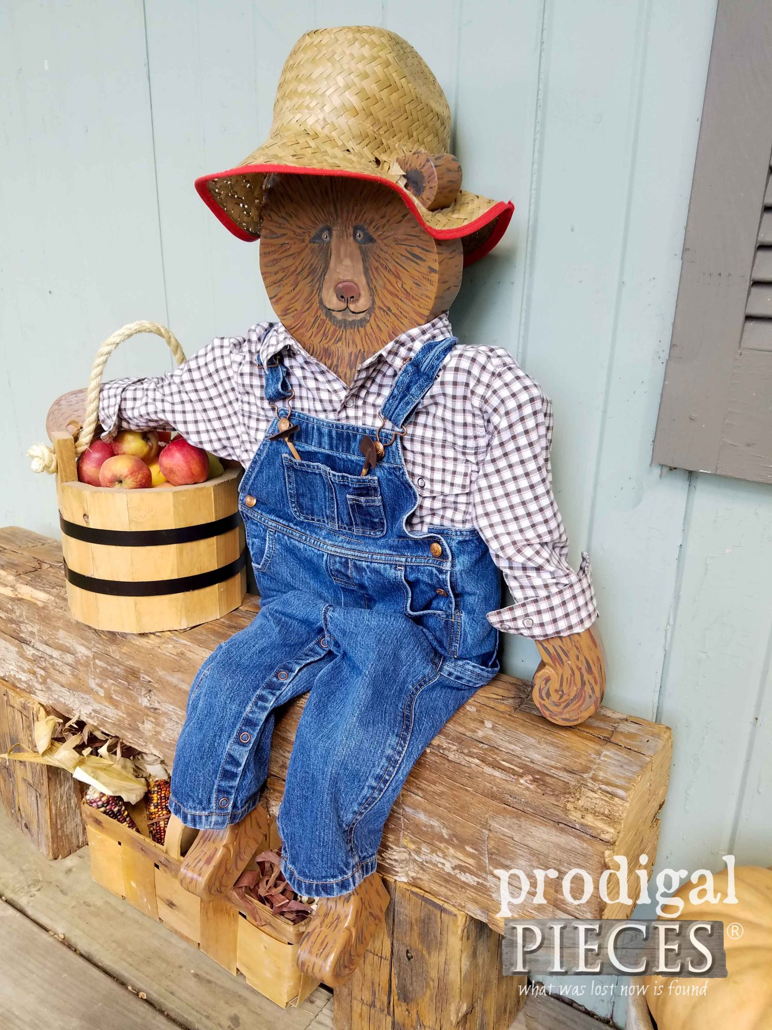 Farmer Harvey the Bear created by Larissa Haynes of Prodigal Pieces | prodigalpieces.com